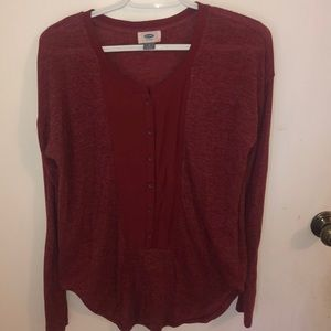 Long Sleeve 3/4 Button Down